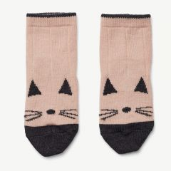Silas Wool Socks in Pink