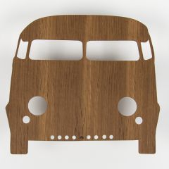 Brown Car Lamp Made of Smoked Oak
