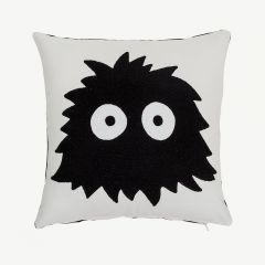 Cotton Cushion in Black