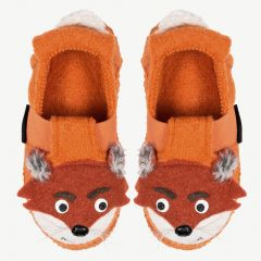 "Safran Orange ""Fox"" Slippers (New)"