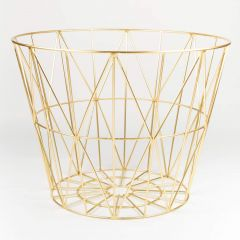 Large Brass Wire Basket