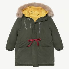"""""""All Over Stars"""" Reversible Hooded Parka in Sea Moss"""