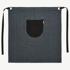 Momo Herringbone Chef Apron in Anthracite