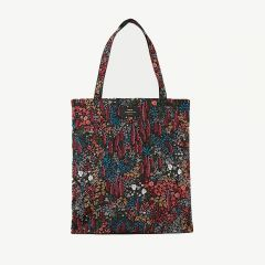 Leila Foldable Velvet Tote Bag in Multicolored