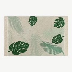 Washable Rug in Tropical Green / Verde