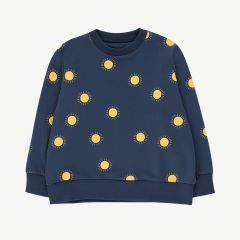 Sonne Sweatshirt in Navy/ Gelb