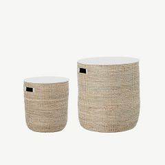 Seegrass Table in Nature (set of 2)
