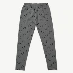 Marie Leggings Panda in Stone Grey