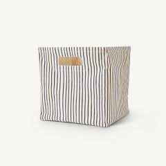 Stripes Away  Cube Medium - Navy