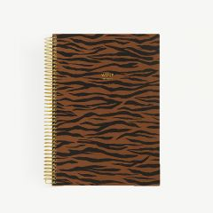 Tiger Spiral-Notizbuch A5 in Braun