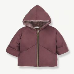 """Laval"" Hood Jacket in Burgundy/ Rose"
