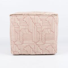 Mini Pouf in Cameo Rose