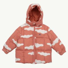 Clouds Baby Anorak in Rot