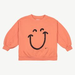 Big Smile Sweatshirt aus Bio-Baumwolle in Orange