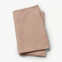 Moss-Knitted Blanket in Powder Pink