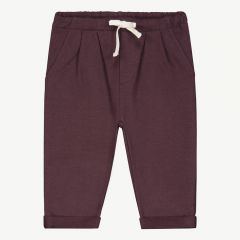 Baby Pleated Trousers in Plum