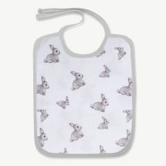 """Iconique Rabbits"" muslin bib white"