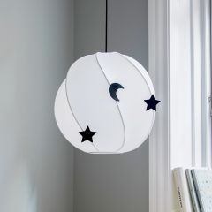 Twirly Ceiling Lamp in White