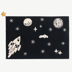 """Alfombra Lavable"" Washable Rug with Universe Print"
