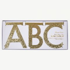 Garland Kit Glitter Letters in Gold