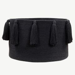 Basket Tassels in Black