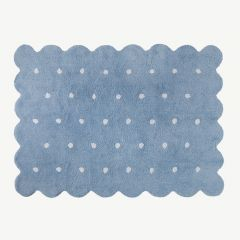 Galleta Washable Rug in Azul / Biscuit Blue
