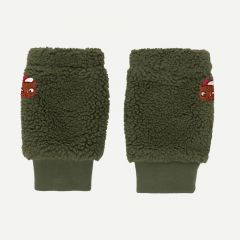"""Sherpa"" Leg Warmer in Green Wood"