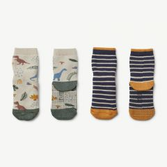 """Nellie"" Stoppersocken Dino in Bunt, 2er-Pack"