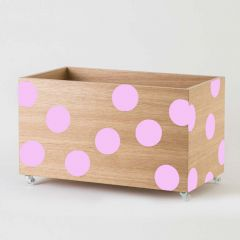 Toy Box with Pink Dots