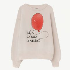 """Bear"" Sweatshirt in White Balloon"