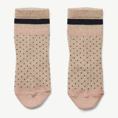 Silas Lurex Socks in Beige