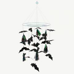 Halloween Bat Chandelier in Black