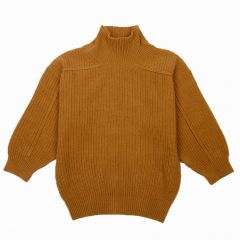 Oversized Strickpullover in Ocker