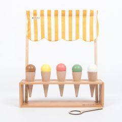 Toy Ice-cream Parlor Made of Wood