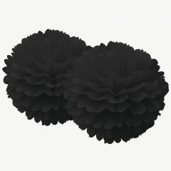Pompon-Set in Schwarz, 2er-Set