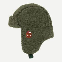 """Sherpa"" Chapka Hat in Green Wood"