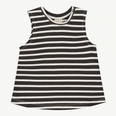 Baby Striped Tank Top in Nearly Black/White Stripe