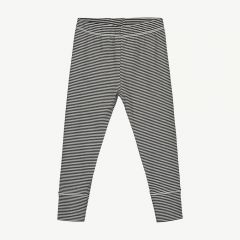 Leggings with Stripes in Nearly Black/ Cream