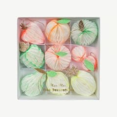 Christmas Tree Decoration Fruits - Pack of 9