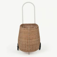 Rollkorb Luggy aus Rattan - Medium