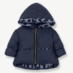 """Regina"" Hood Jacket in Dark/ Light Blue"