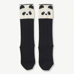 Sofia Cotton Knee Socks Panda in Creme de la crème (2 pack)