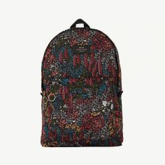 Leila Foldable Velvet Backpack in Multicolored