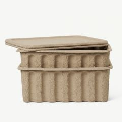 Paper Pulp Large Box in Brown - Set of 2