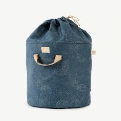 Bamboo Toy Bag in Gold Bubble & Night Blue