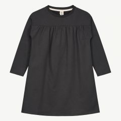Pleated Dress in Nearly Black