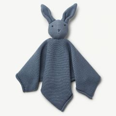Milo Knit Cuddle Cloth Rabbit in Blue Wave