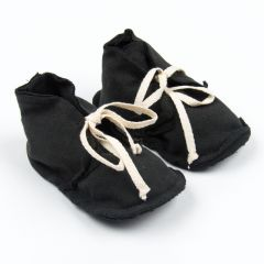 """Raw Edged"" Booties Stoffschuhe in Schwarz"