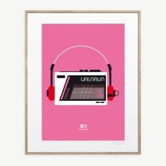 "LE DUO ""Walkman"" Poster in Pink"
