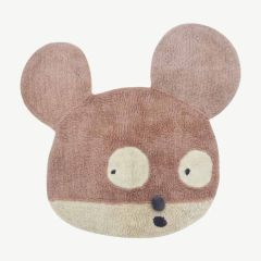 Woolable x Edgar Plans Waschbarer Woll-Teppich Miss Mighty Mouse - 120 x 120 cm